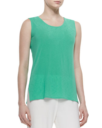 Sleeveless Tropical Longer Tank, Women's