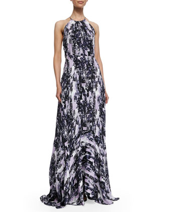 Sonoma Printed Halter Maxi Dress