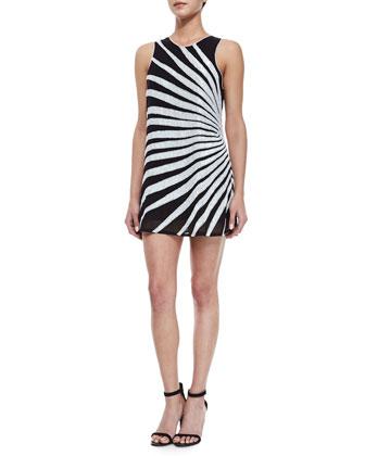 Allegra Sequined Sunburst Dress