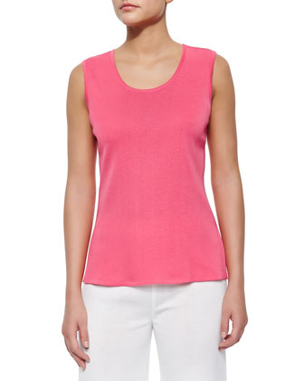 Sleeveless Long Tank, Papaya