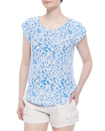 Rancher B Printed Silk Top
