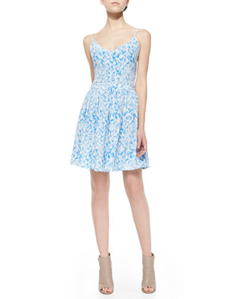 Hudette Printed Sleeveless Dress