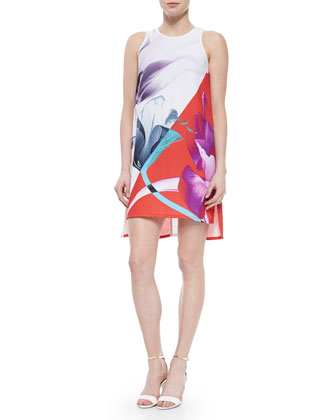 X-Ray Lily Sleeveless High-Low Dress