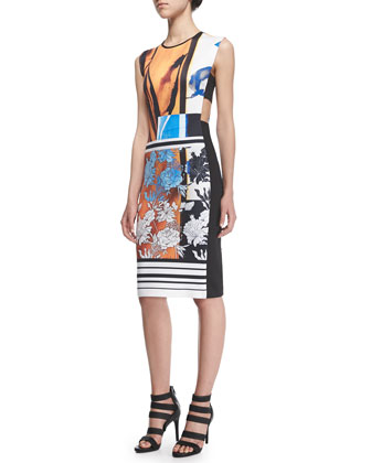 Burmese Dream Printed Cutout Dress