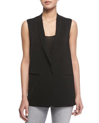 Portier Long Suiting Vest, Natasha Jersey Knit Tank Top & Mid-Rise Rail ...