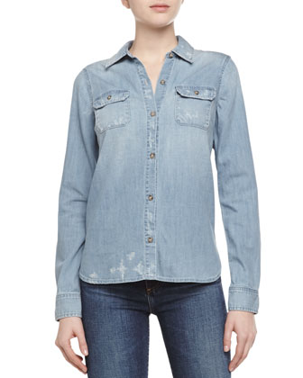Dakota Woven Chambray Shirt
