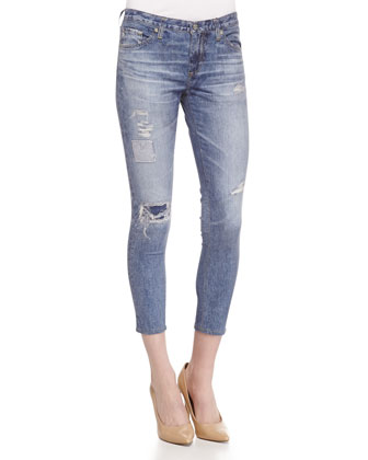 Digital Luxe Denim Ankle Leggings