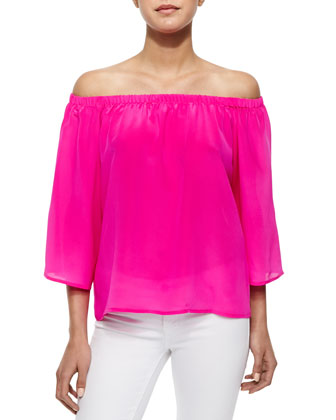 Off-the-Shoulder Nirvan Georgette Top