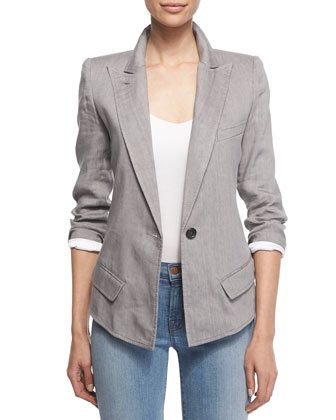 Long-Sleeve Casual Blazer