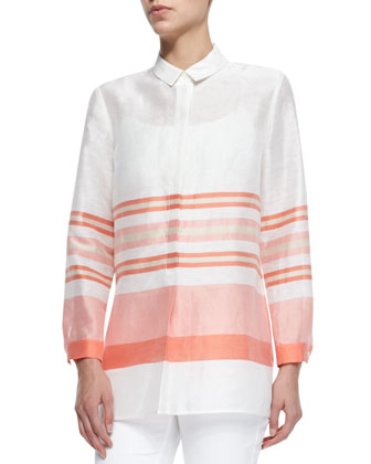 Gerica Linen/Silk Striped Shirt