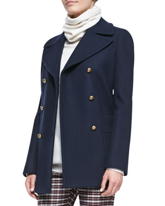Cadet Double-Breasted Felt Coat