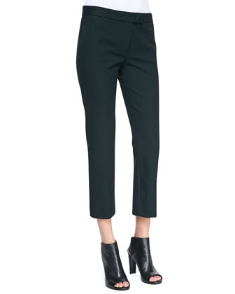 Queen Cropped Gabardine Pants