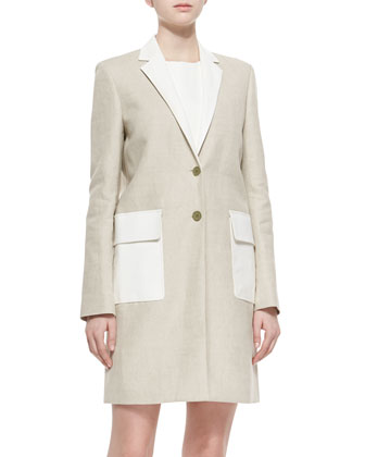 Lagata Two-Tone Utility Coat & Jinxil Two-Tone Twill Dress