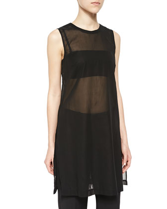 Pinga Long Sheer Sleeveless Top, Bari T Bandeau Top & Sprinza Cropped ...