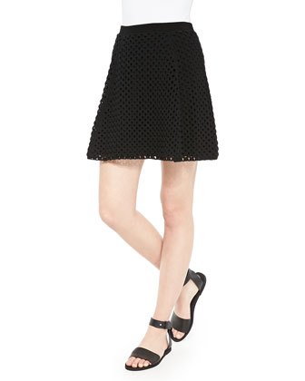Rortie B Open-Stitch Skirt