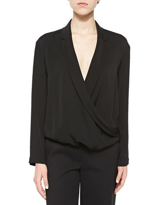 Ilori Draped Surplice Blouse & Sprinza Cropped Wide-Leg Pants