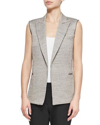 Eldora Patterned Suiting Vest, Fliore Jersey Tank Top & Palanis ...