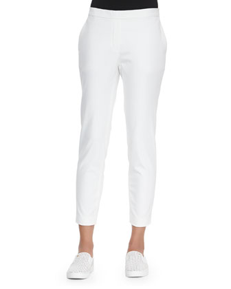 Thaniel Cropped Slim Twill Pants