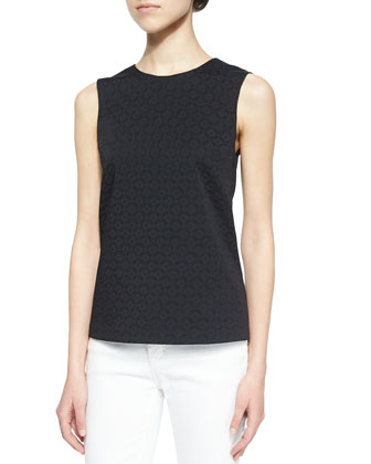 Theory Shell C Jacquard Top, Black