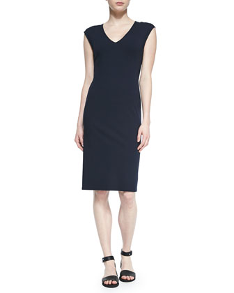 Naepra V-Neck Crepe Dress