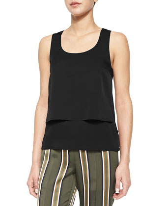 Izidora Sleeveless Layered Georgette Top