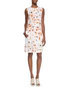 Linigole Floral-Print Belted Dress