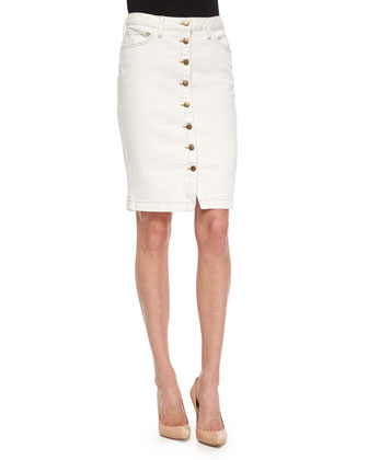 The Dorothy Button-Front Skirt