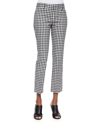 Izelle S. Barnet Check Cropped Pants
