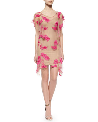 Orchid Short-Sleeve Mini Dress