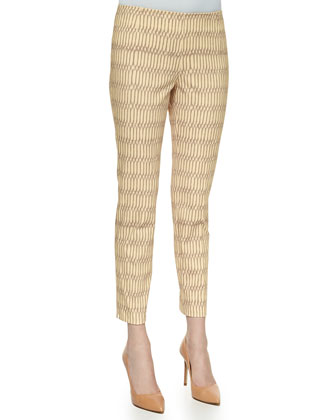 Stanton Graphic-Print Cropped Pants, Hickory