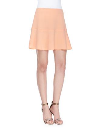 Danielle Flare-Hem Straight Skirt