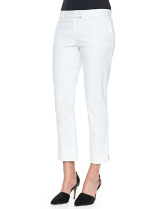 Bing Court Ankle Pants, White