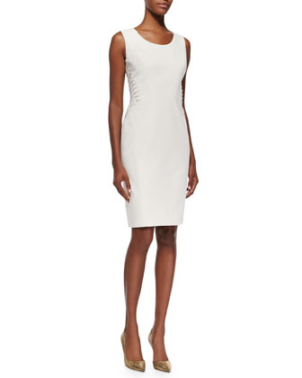 Vonnie Fundamental Side-Lace-Up Sheath Dress