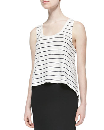 Macaire Striped Slub Tank
