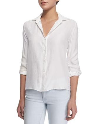 Queue De Pie Silk Shirt & Le Skinny De Jeanne Stretch Jeans ...