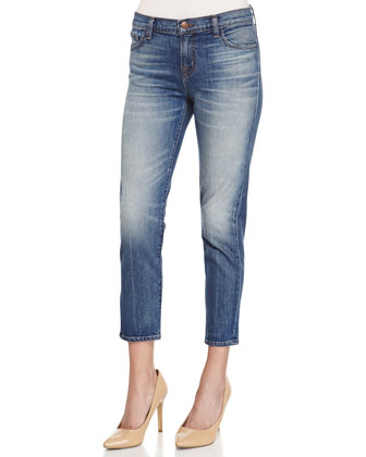 Ellis Rival Cropped Denim Jeans