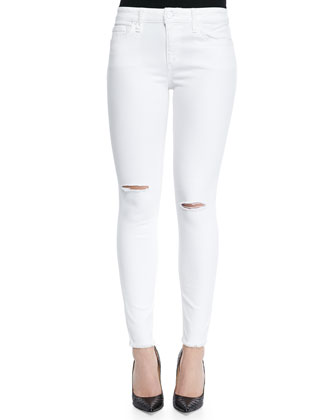 Finny Skinny-Fit Distressed Jeans
