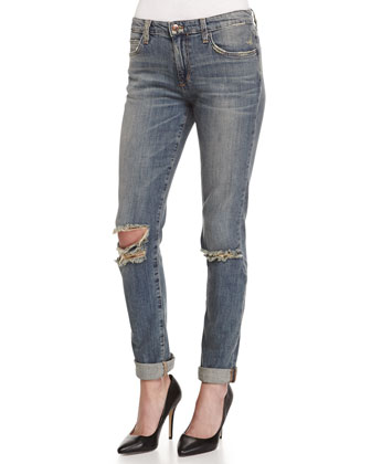 Navi Slim-Fit Denim Boyfriend Jeans