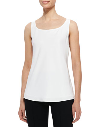 Matte Silk Bias Tank, Cloud