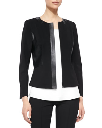 Ginnette Punto Jacket W/ Neo Tech Detail