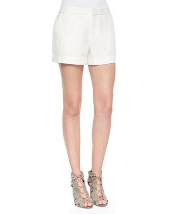 Gloria Long-Sleeve Print Blouse & Leiden Linen Shorts