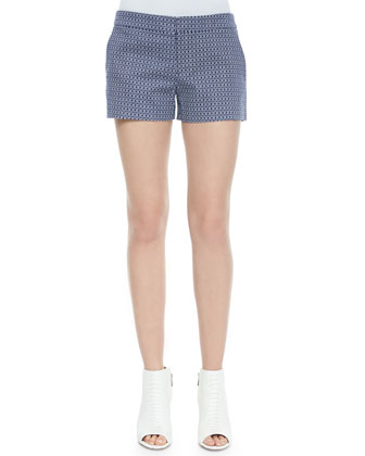 Isabeau Printed Pique Shorts