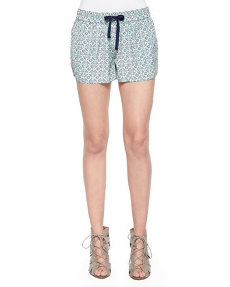 Layana B Printed Drawstring Shorts