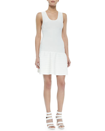 Maudette Dropped-Waist Knit Dress