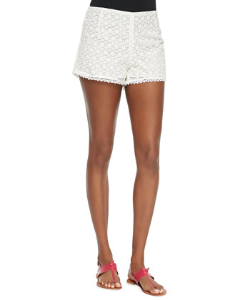 Somme Floral-Lace Shorts
