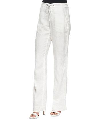 Esmee Floral-Print Tank Top & Katriane Wide-Leg Linen Pants