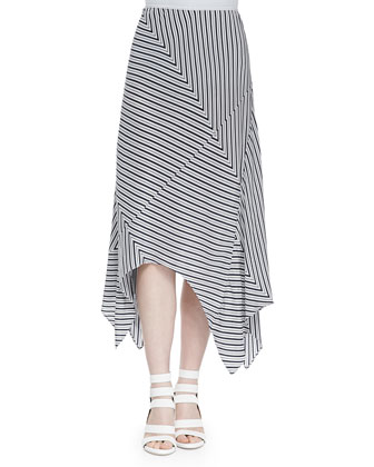 Mahaut Sleeveless Striped Tank Top & Eleta Striped Asymmetric Maxi Skirt