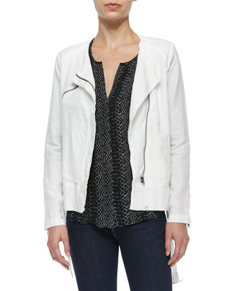 Edda Linen Zip Jacket