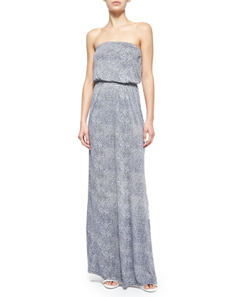 Dalila Printed Strapless Maxi Dress