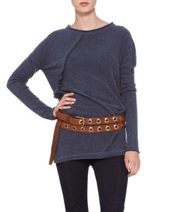 Double-Wrap Grommet Belt, Luggage
